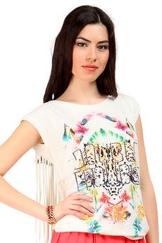 Стильная футболка с бахромой на спине Mondigo