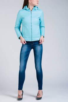 Короткая куртка с капюшоном (голубая) CONVER
