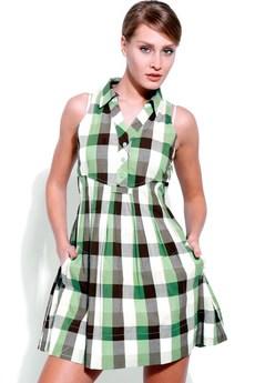 Платье в клетку F5