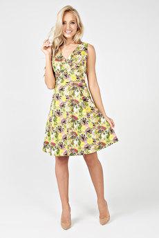 Желтое летнее платье Carlo Bottichelli
